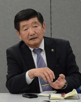 Naka Mayor Toru Umino (Mainichi/Masanori Makita)