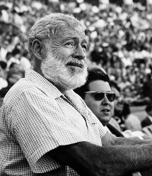 In this Nov. 1960 file photo, U.S. novelist Ernest Hemingway attends a bullfight in Madrid, Spain. (AP Photo)