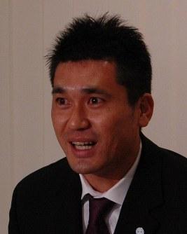 現役引退を表明する黒木知宏=東京都港区で2007年12月12日午後2時24分、田内隆弘撮影