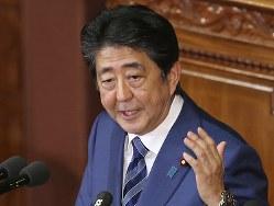 安倍晋三首相は10月24日の所信表明演説で、ロシアとの間で平和条約締結を目指す意向を改めて表明した=AP