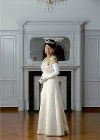 Princess Ayako poses for a commemorative photo on Sept. 20, 2010, after she turned 20 years old five days earlier. (Photo courtesy of the Imperial Household Agency)