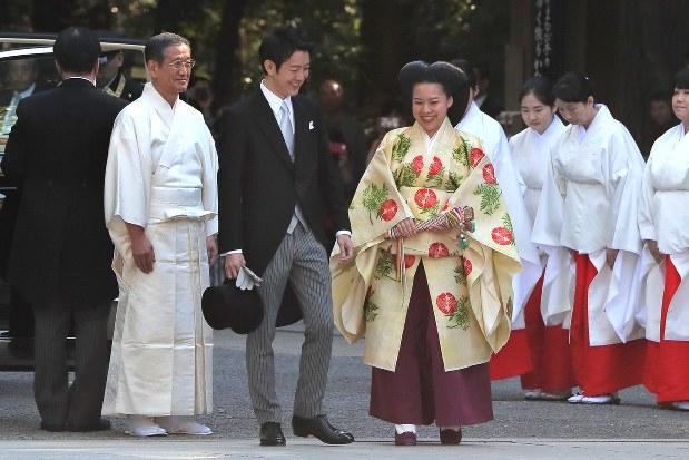皇室:絢子さまが結婚式 明治神宮 - 毎日新聞