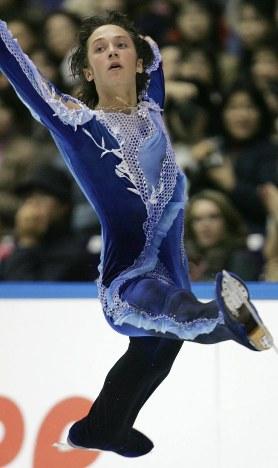 【2004年】男子シングルで優勝したジョニー・ウエア=名古屋市のレインボーアイスアリーナで2004年11月7日、石井諭撮影