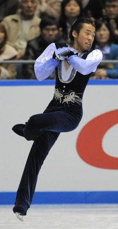 【2008年】優勝した織田信成のフリー演技=東京・代々木第1体育館で2008年11月30日、手塚耕一郎撮影