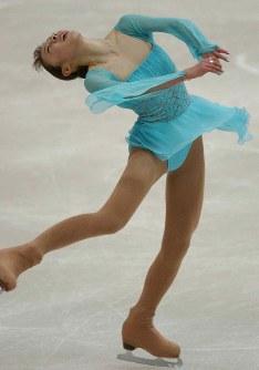 【2003年】女子シングルで逆転優勝した村主章枝=旭川大雪アリーナで2003年11月29日、須賀川理撮影