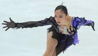 【2009年】優勝した安藤美姫のショートプログラムの演技=長野市のビッグハットで2009年11月6日、手塚耕一郎撮影
