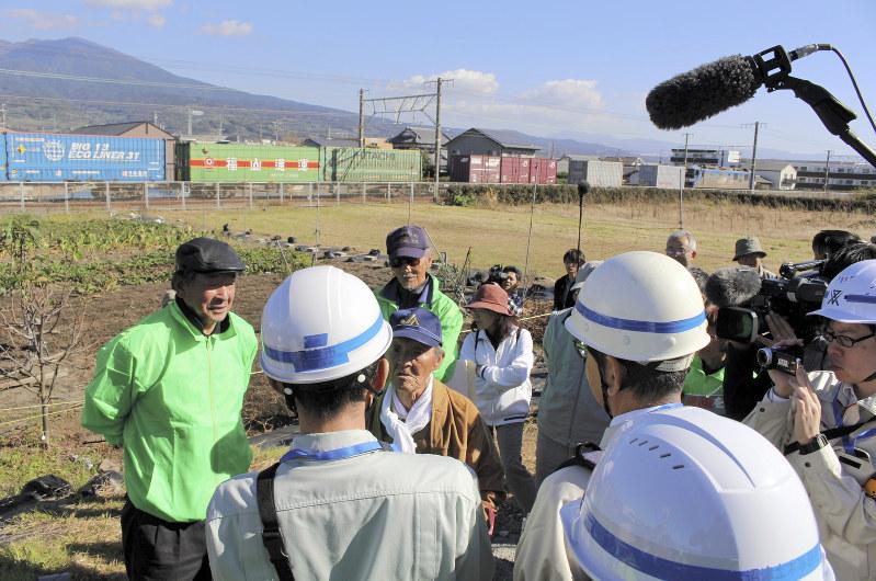 【JR沼津駅】貨物駅移転先の未買収地、土地収用の調査開始 地権者は立ち入り拒否「先祖が苦労して耕した土地、やすやすと渡せない」