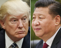 U. S. President Donald Trump. left, and Chinese President Xi Jinping (AP)