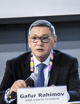 AIBA interim president Gafur Rakhimov (Photo from AIBA website)