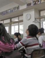 東京都目黒区立中目黒小学校の1時間目の授業は午前8時35分にスタートした=水戸健一撮影