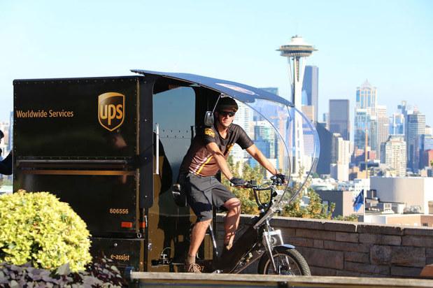 UPSが導入したeバイク