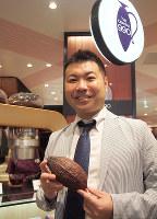 チョコレート会社「Dari K」(ダリケー)の吉野慶一社長=京都市で2018年10月22日午後2時57分、真野森作撮影