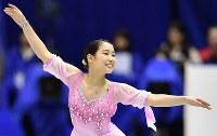 女子SPで演技を披露する三原舞依=広島市中区の広島県立総合体育館で2018年11月9日、猪飼健史撮影