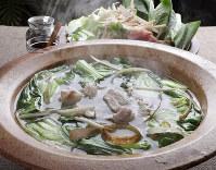 チンゲンサイと豚肉の鍋=尾籠章裕撮影