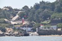 大胆島の岸壁付近。戦略上の要衝となり、共産党軍と国民党軍が激しい戦闘を繰り広げた=台湾金門県・大胆島で2018年10月28日、福岡静哉撮影