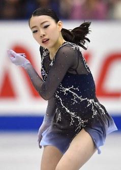 【フィギュアスケートNHK杯】女子シングルで優勝した紀平梨花=広島市中区の広島県立総合体育館で2018年11月10日、猪飼健史撮影