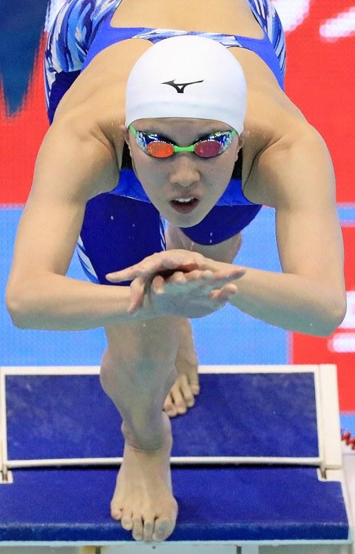 競泳:池江が自身の日本記録塗り...