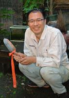 土の研究者、藤井一至さん=富山市内で、青山郁子撮影