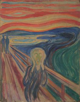 エドヴァルド・ムンク《叫び》1910年? テンペラ・油彩、厚紙 83.5×66cm オスロ市立ムンク美術館所蔵 (c) Munchmuseet