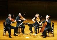 後半に出演したハーゲン弦楽四重奏団
