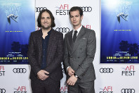David Robert Mitchell, left, and Andrew Garfield attend a special screening of
