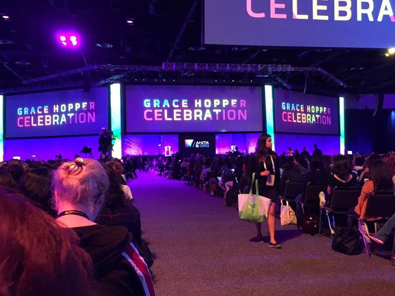 米フロリダ州で開かれた2017年のグレース・ホッパー会議=写真はいずれも筆者
