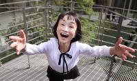 映画「カメラを止めるな!」に出演した女優のどんぐりさん=大阪市北区で、梅田麻衣子撮影