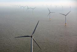 英企業が展開する北海上の洋上風力発電設備。欧州では洋上風力が急拡大している