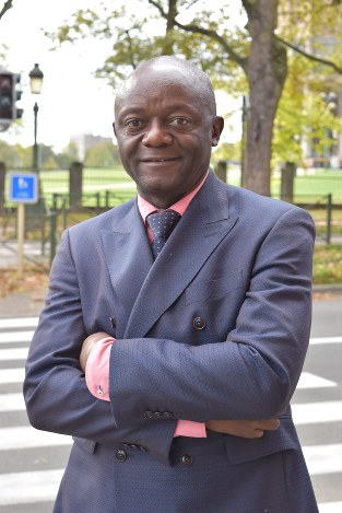 ベルギーの自治体で初めて黒人の首長となるピエール・コンパニーさん=ブリュッセルで2018年10月24日午後1時15分、八田浩輔撮影