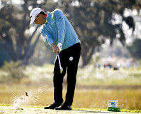 Charles Howell III hits off the third tee during the third round of the RSM Classic golf tournament on Nov. 17, 2018, in St. Simons Island, Ga. (AP Photo/Stephen B. Morton)