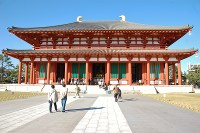 再建された興福寺中金堂=伊藤和史撮影
