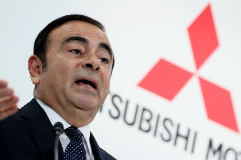 Nissan Motor Co. President Carlos Ghosn speaks at a press conference about Nissan's capital and business tie-up with Mitsubishi Motors Corp. in Tokyo's Minato Ward, on Oct. 20, 2016. (Mainichi/Takeshi Morita)