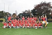 大津緑洋の選手集合写真=山口市の維新百年記念公園ラグビー・サッカー場で2018年11月18日午後4時7分、平塚裕介撮影