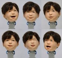 いろいろな表情がつくれる子供型アンドロイド=大阪府吹田市の大阪大で14日