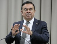 In this Dec. 16, 2016 file photo, Nissan Motor Co. Chairman Carlos Ghosn answers questions during an interview in Yokohama. (Mainichi/Tomohiro Katahira)