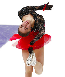 Alina Zagitova of Russia performs in the ladies free skating during the ISU Grand Prix of Figure Skating Rostelecom Cup in Moscow, Russia, on Nov. 17, 2018. (AP Photo/Alexander Zemlianichenko)
