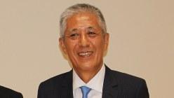 スルガ銀行の岡野光喜会長(※肩書きは当時)=2016年6月23日、石川宏撮影