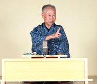 落語家の桂米輔さん=神戸市兵庫区の喜楽館で、梅田麻衣子撮影