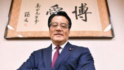 岡田克也氏=宮間俊樹撮影