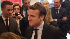 2017年仏大統領選中のマクロン氏=同年4月26日、賀有勇撮影