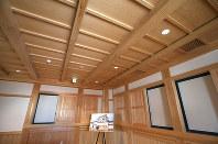再建された尼崎城の天守内部=兵庫県尼崎市で2018年11月30日、梅田麻衣子撮影