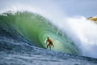 In this 2018 photo, Stephanie Gilmore of Australia competes at the Beachwaver Maui Pro in Honolua, Hawaii. (Ed Sloane/World Surf League via AP)