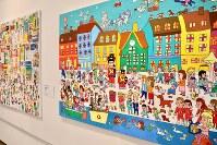 「ここから3」で展示されている横溝さやかさんの作品=東京都港区の国立新美術館で2018年12月5日、岡本同世撮影
