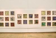 「ここから3」で展示されている濱田幹雄さんの作品=東京都港区の国立新美術館で2018年12月5日、岡本同世撮影