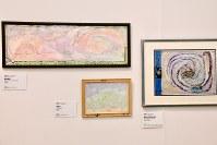 「ここから3」で展示されている石栗仁之さんの作品=東京都港区の国立新美術館で2018年12月5日、岡本同世撮影