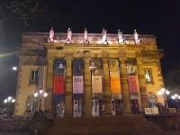 夜空に浮かぶストラスブール歌劇場