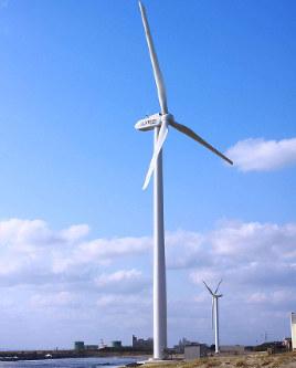 ウェンティ・ジャパンが進める秋田市の向浜風力発電所 (北都銀行提供)