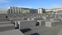 「虐殺されたヨーロッパのユダヤ人のための記念碑」は慰霊碑であるとともに現代アートのマスターピースでもある(写真は筆者撮影)