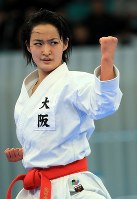 女子形個人決勝を制した清水希容=日本武道館で2018年12月9日、梅村直承撮影