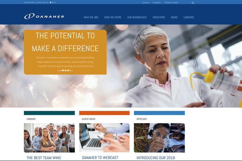 巧みな企業買収で事業拡大を図るダナハーのホームページ